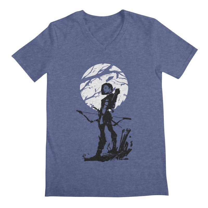 Moonlight Hunt Men's Regular V-Neck by aaronjriley's Artist Shop