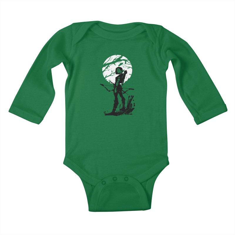Moonlight Hunt Kids Baby Longsleeve Bodysuit by aaronjriley's Artist Shop