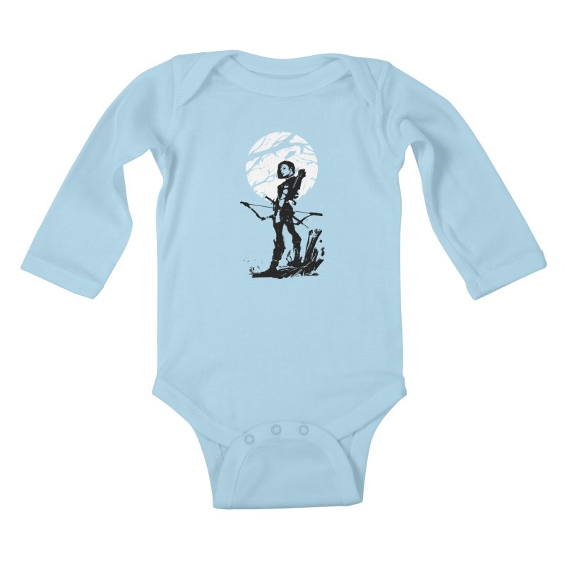 Moonlight Hunt Kids Baby Longsleeve Bodysuit by aaronjriley's Artist Shop