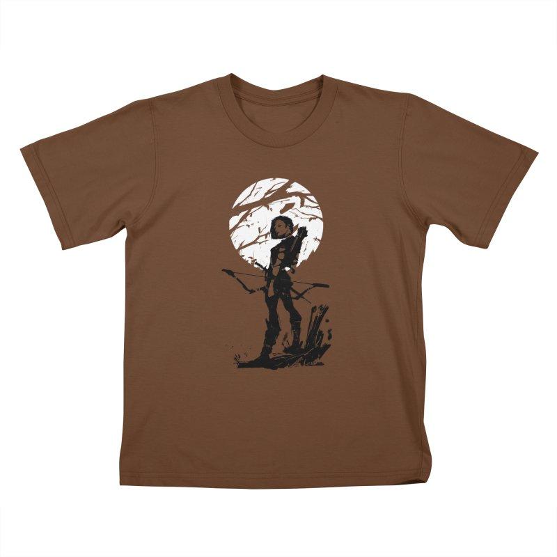 Moonlight Hunt Kids T-Shirt by aaronjriley's Artist Shop