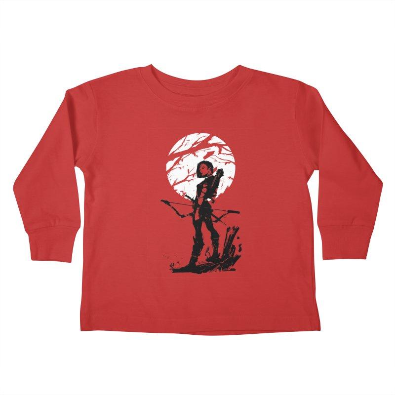 Moonlight Hunt Kids Toddler Longsleeve T-Shirt by aaronjriley's Artist Shop