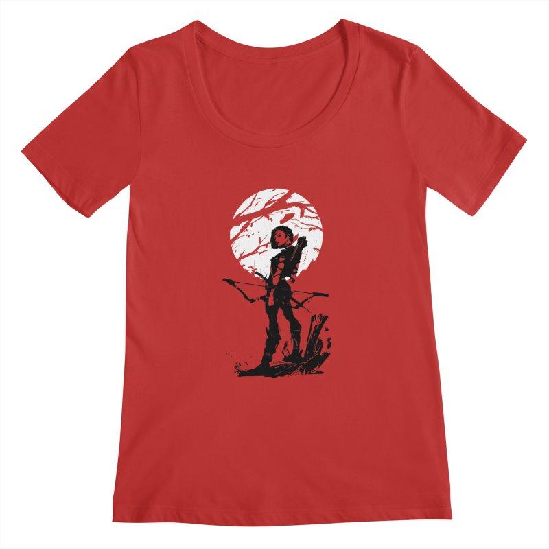 Moonlight Hunt Women's Regular Scoop Neck by aaronjriley's Artist Shop