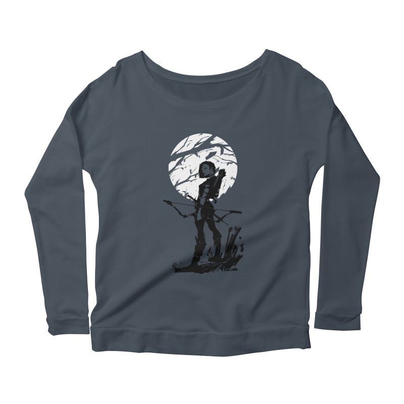 Moonlight Hunt Women's Scoop Neck Longsleeve T-Shirt by aaronjriley's Artist Shop