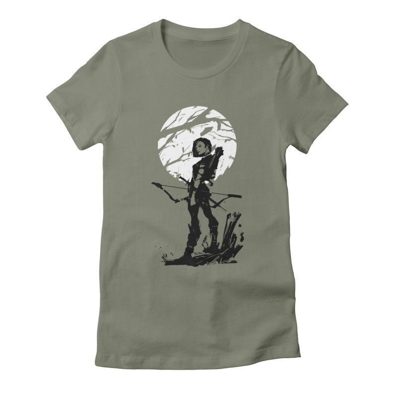Moonlight Hunt Women's Fitted T-Shirt by aaronjriley's Artist Shop