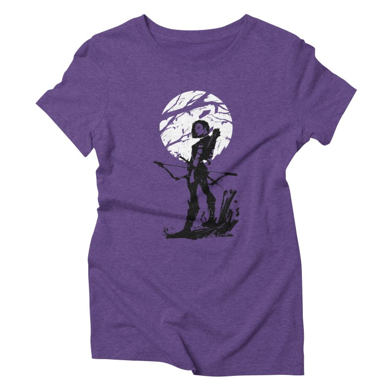 Moonlight Hunt Women's Triblend T-Shirt by aaronjriley's Artist Shop