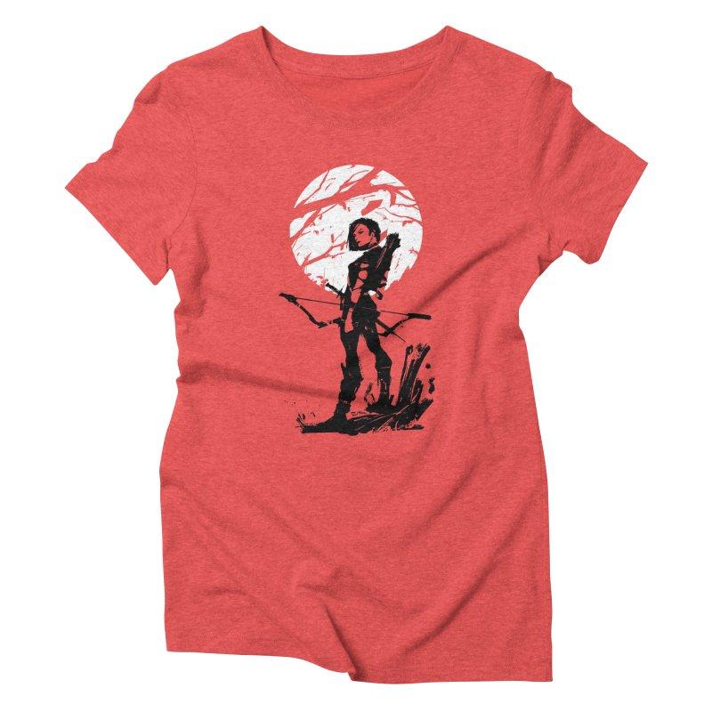 Moonlight Hunt Women's Triblend T-Shirt by aaronjriley's Artist Shop
