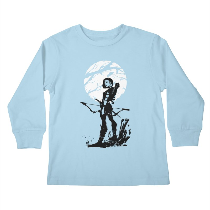 Moonlight Hunt Kids Longsleeve T-Shirt by aaronjriley's Artist Shop