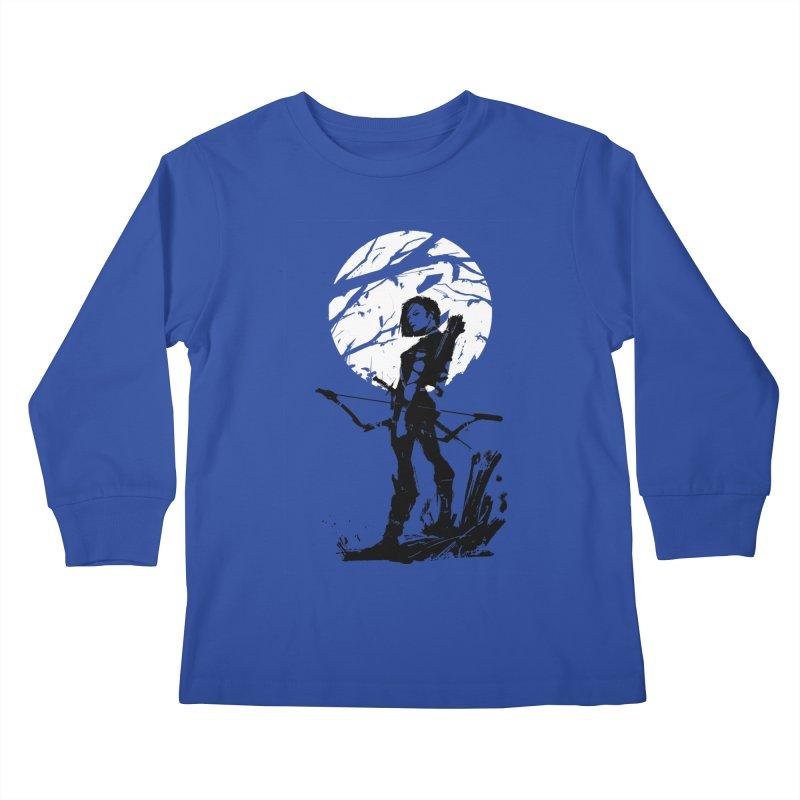 Moonlight Hunt Kids Longsleeve T-Shirt by aaronjriley's Artist Shop