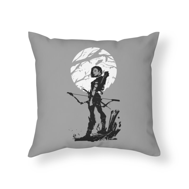 Moonlight Hunt Home Throw Pillow by aaronjriley's Artist Shop