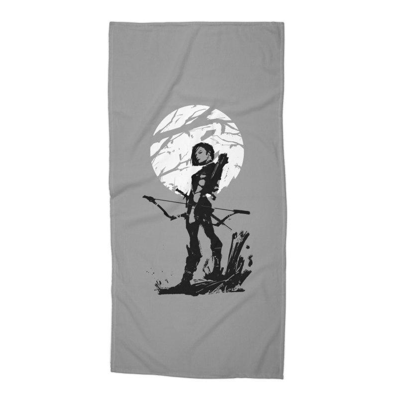 Moonlight Hunt Accessories Beach Towel by aaronjriley's Artist Shop