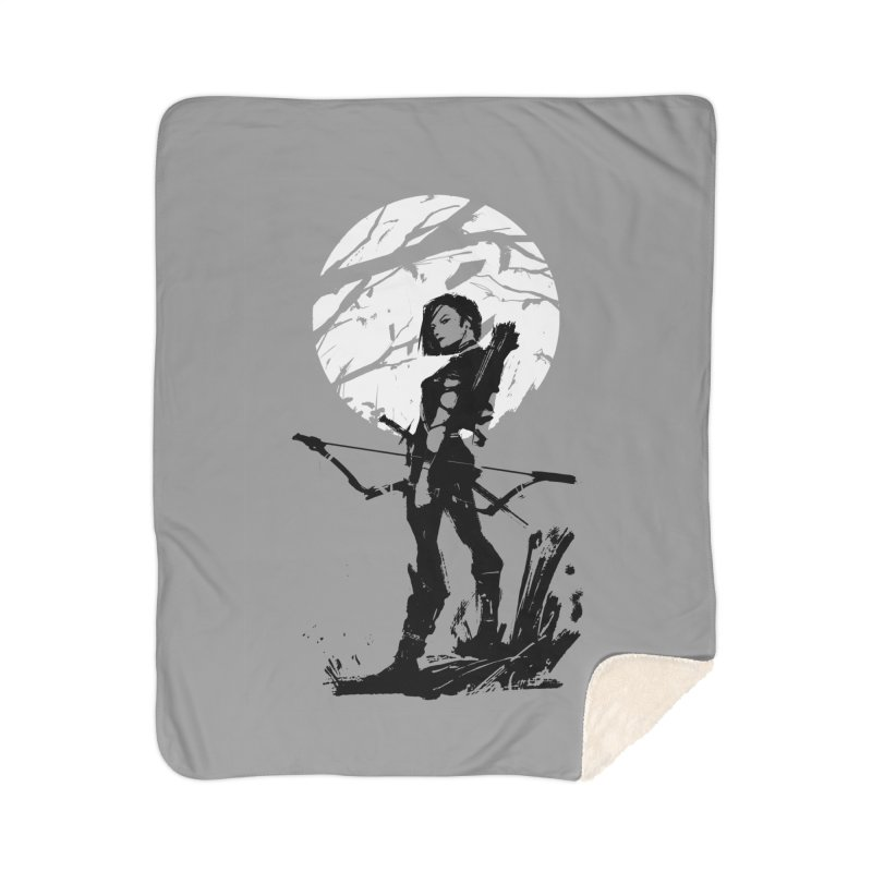 Moonlight Hunt Home Sherpa Blanket Blanket by aaronjriley's Artist Shop