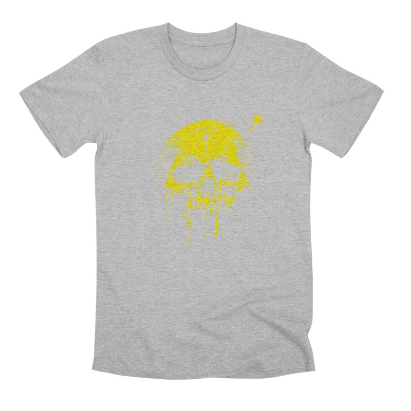 Aaron J. Riley Skull Design Yellow Men's Premium T-Shirt by aaronjriley's Artist Shop