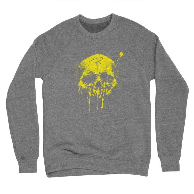 Aaron J. Riley Skull Design Yellow Men's Sweatshirt by aaronjriley's Artist Shop