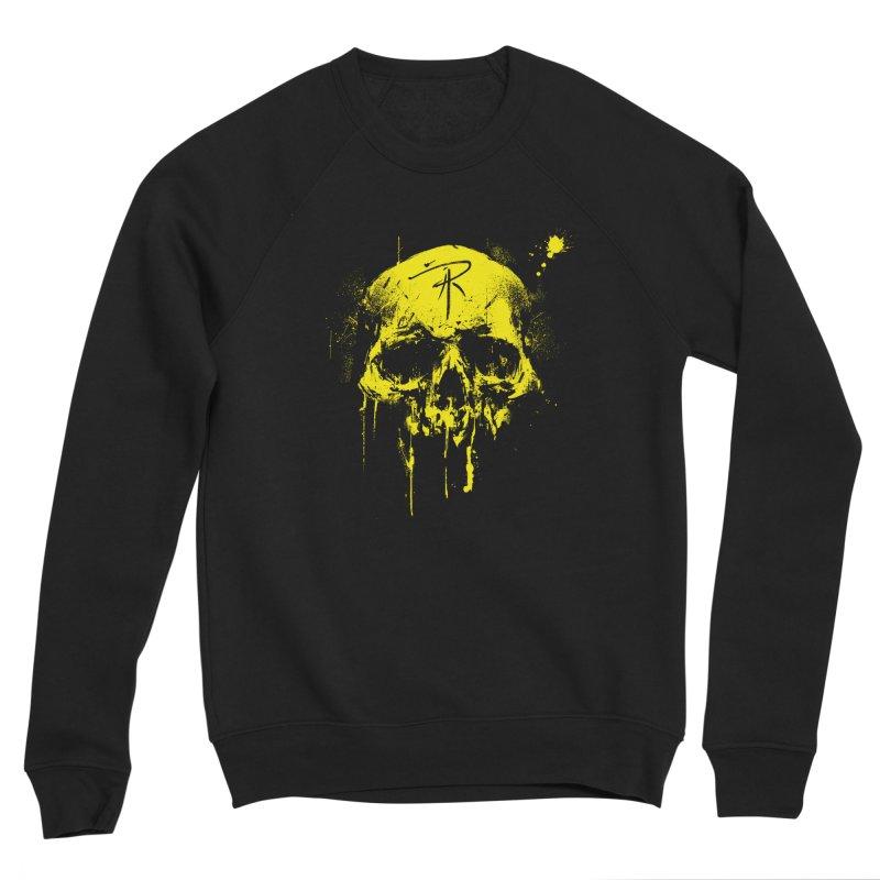 Aaron J. Riley Skull Design Yellow Men's Sponge Fleece Sweatshirt by aaronjriley's Artist Shop