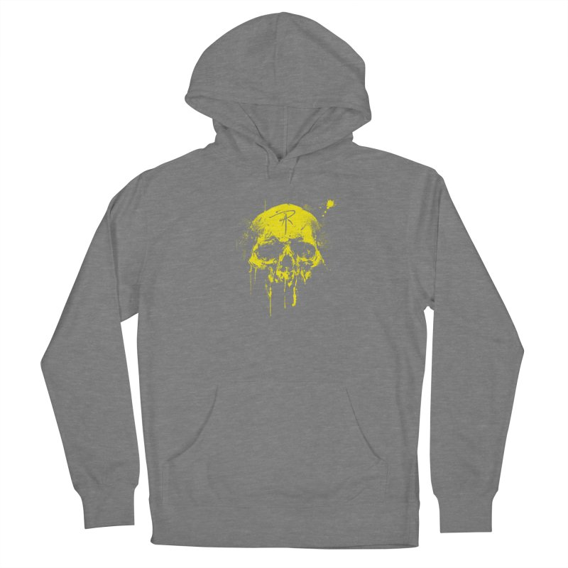 Aaron J. Riley Skull Design Yellow Women's Pullover Hoody by aaronjriley's Artist Shop