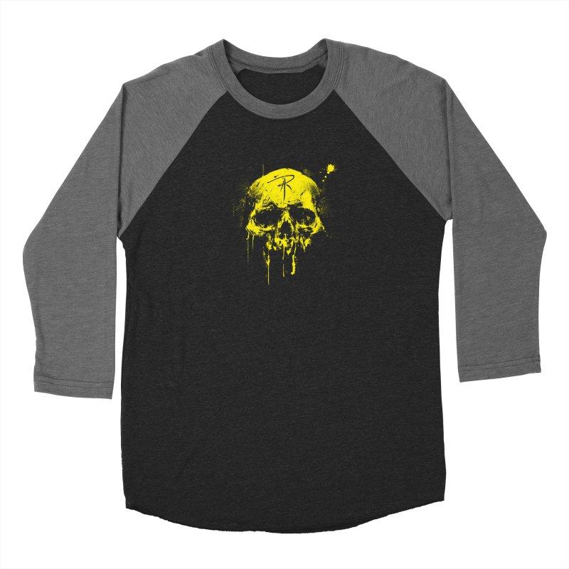 Aaron J. Riley Skull Design Yellow Women's Longsleeve T-Shirt by aaronjriley's Artist Shop