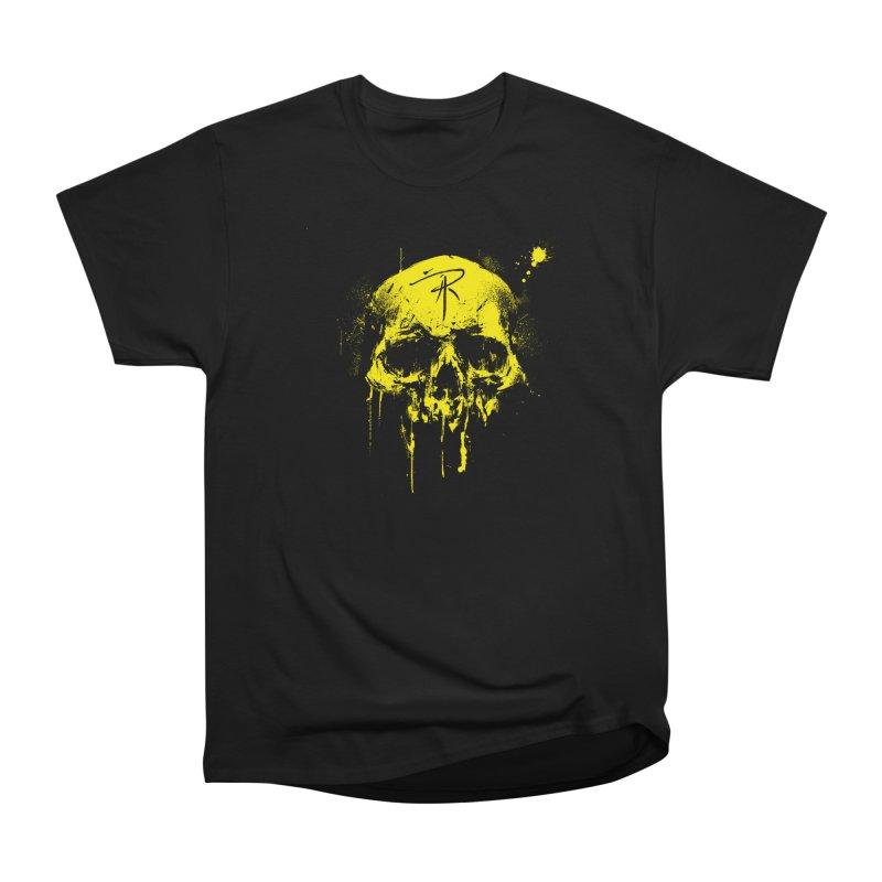 Aaron J. Riley Skull Design Yellow Men's Heavyweight T-Shirt by aaronjriley's Artist Shop