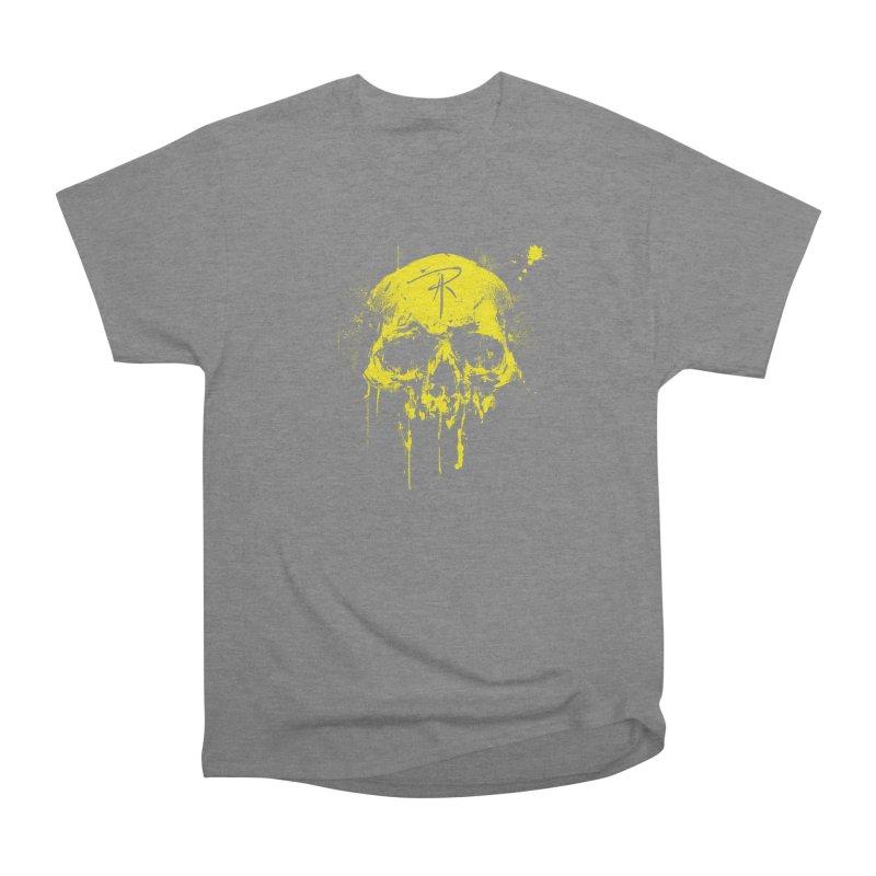 Aaron J. Riley Skull Design Yellow Men's T-Shirt by aaronjriley's Artist Shop