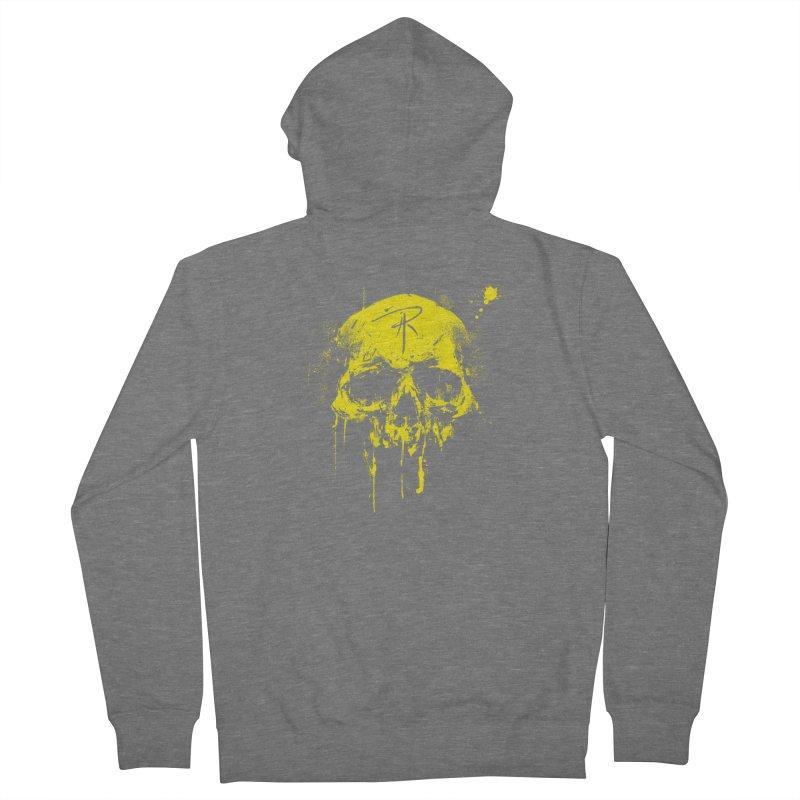 Aaron J. Riley Skull Design Yellow Women's Zip-Up Hoody by aaronjriley's Artist Shop