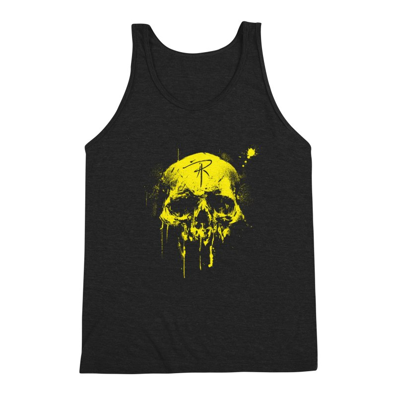 Aaron J. Riley Skull Design Yellow Men's Tank by aaronjriley's Artist Shop