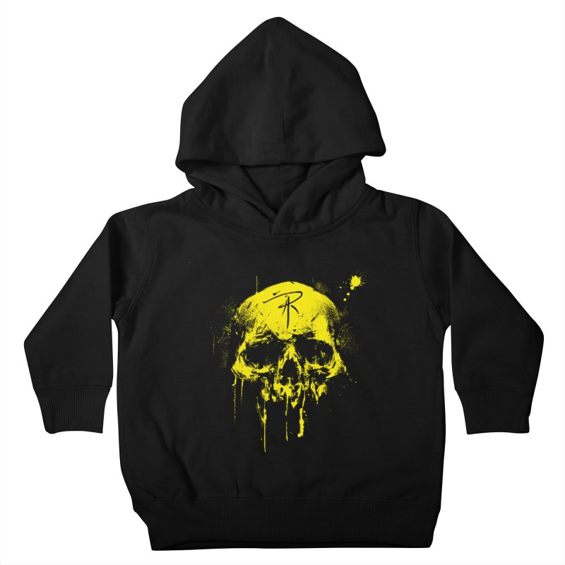 Aaron J. Riley Skull Design Yellow Kids Toddler Pullover Hoody by aaronjriley's Artist Shop