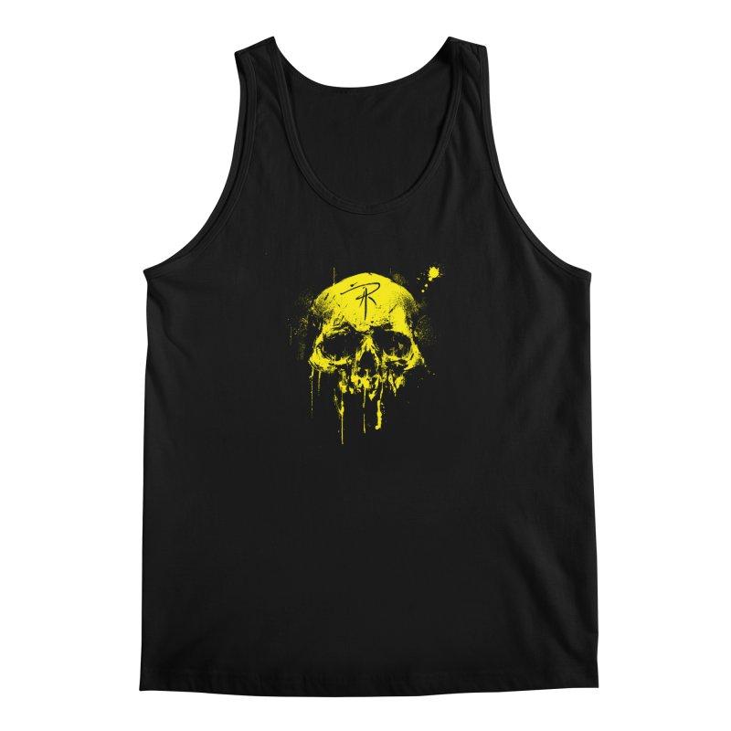 Aaron J. Riley Skull Design Yellow Men's Regular Tank by aaronjriley's Artist Shop