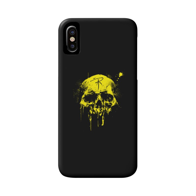 Aaron J. Riley Skull Design Yellow Accessories Phone Case by aaronjriley's Artist Shop