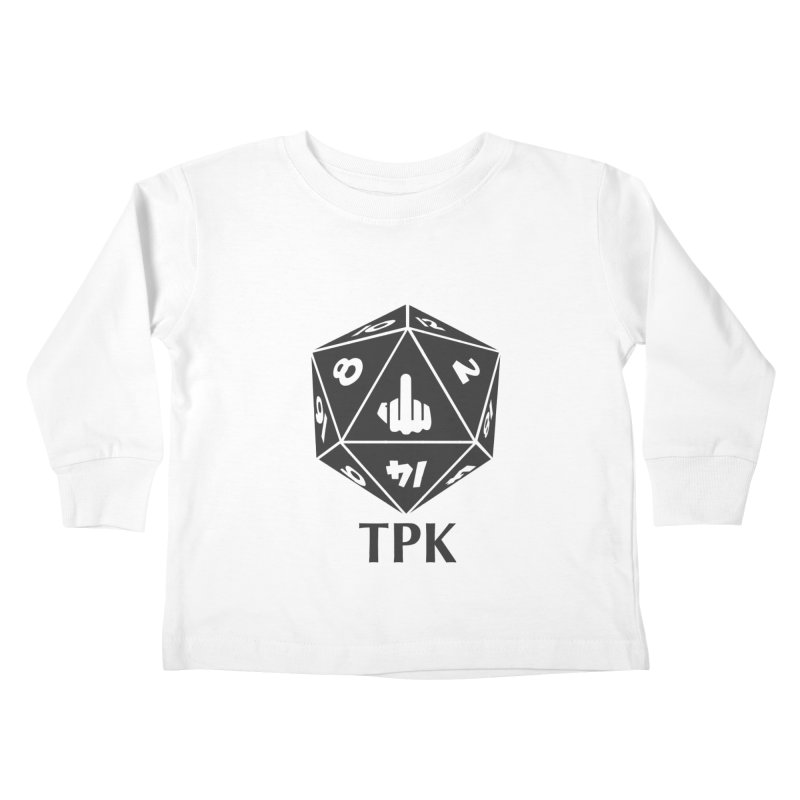 Total Party Kill (gray) Kids Toddler Longsleeve T-Shirt by aaronjriley's Artist Shop