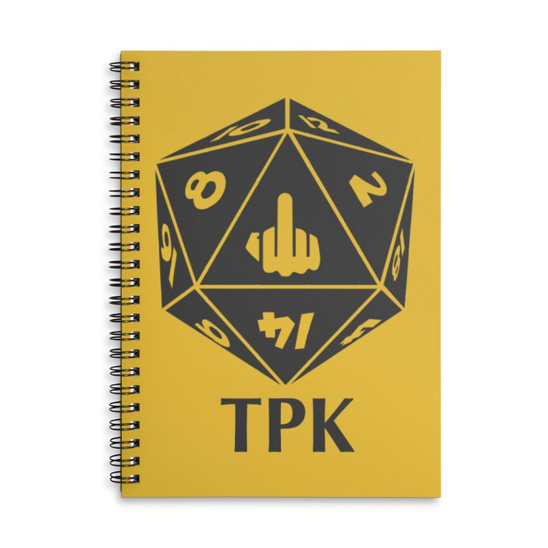 Total Party Kill (gray) Accessories Lined Spiral Notebook by aaronjriley's Artist Shop
