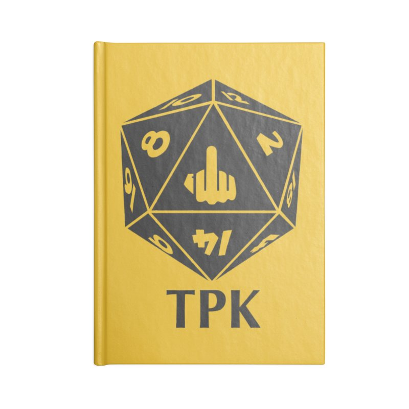 Total Party Kill (gray) Accessories Lined Journal Notebook by aaronjriley's Artist Shop
