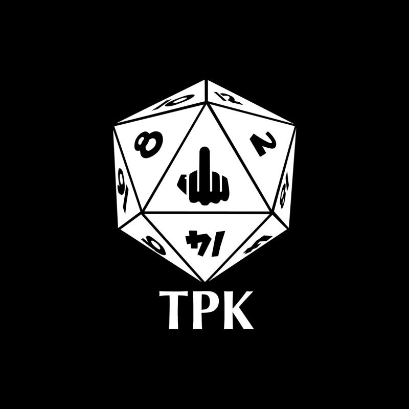 TPK (white) Accessories Bag by aaronjriley's Artist Shop