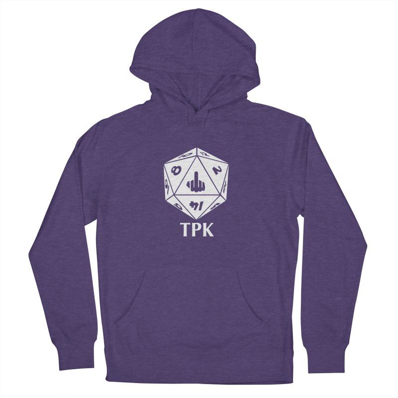 TPK (white) Men's French Terry Pullover Hoody by aaronjriley's Artist Shop