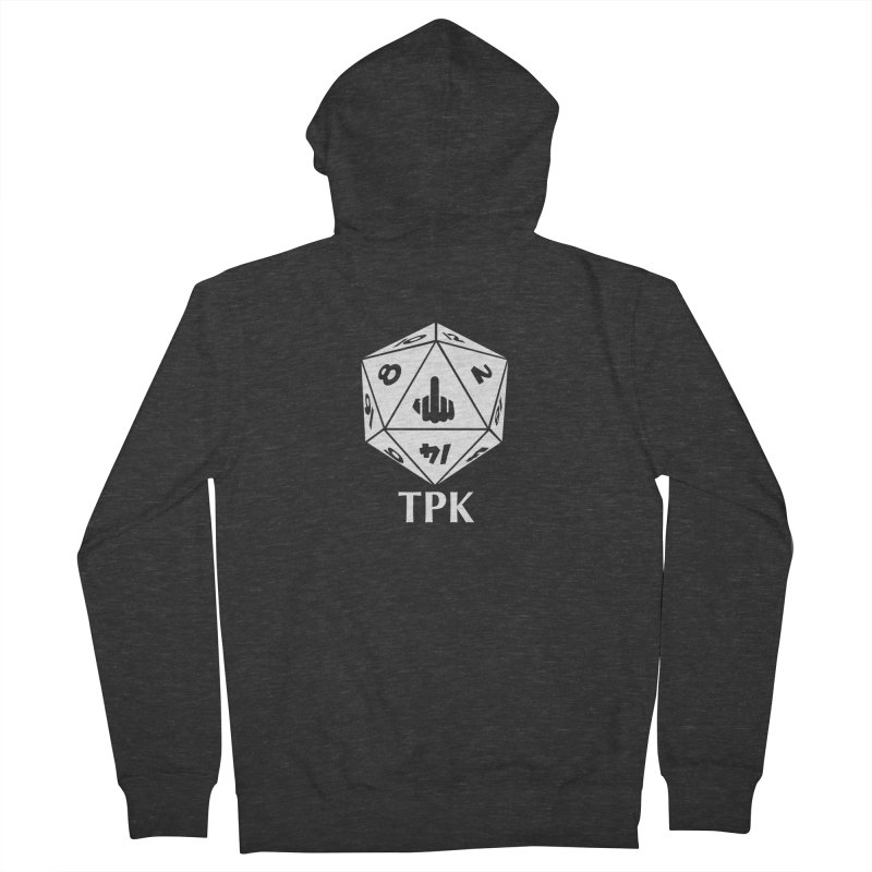 TPK (white) Men's French Terry Zip-Up Hoody by aaronjriley's Artist Shop