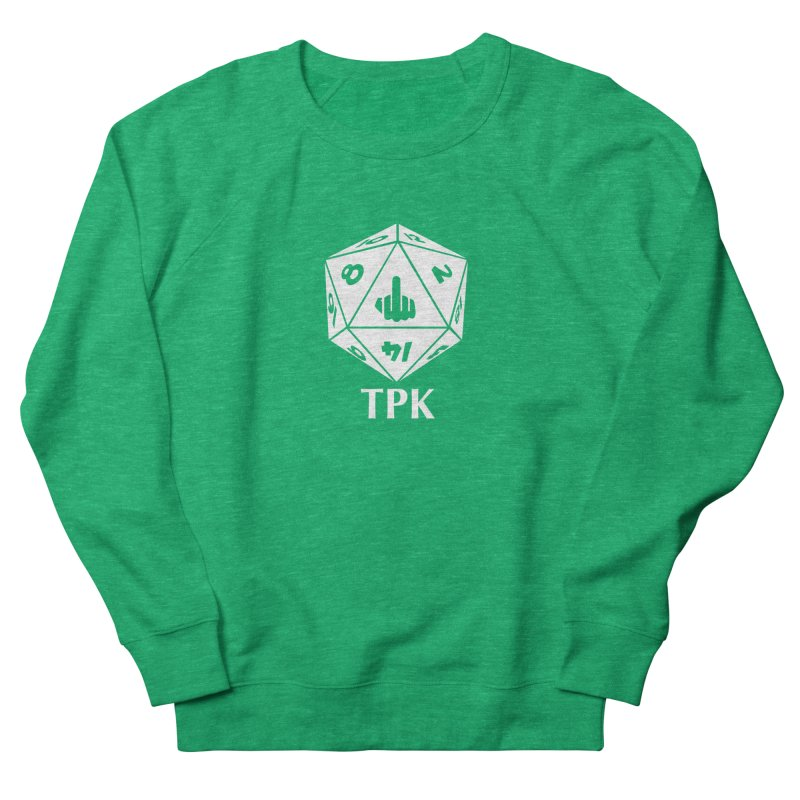 TPK (white) Women's French Terry Sweatshirt by aaronjriley's Artist Shop