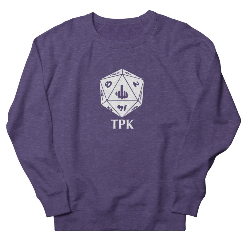 TPK (white) Men's French Terry Sweatshirt by aaronjriley's Artist Shop