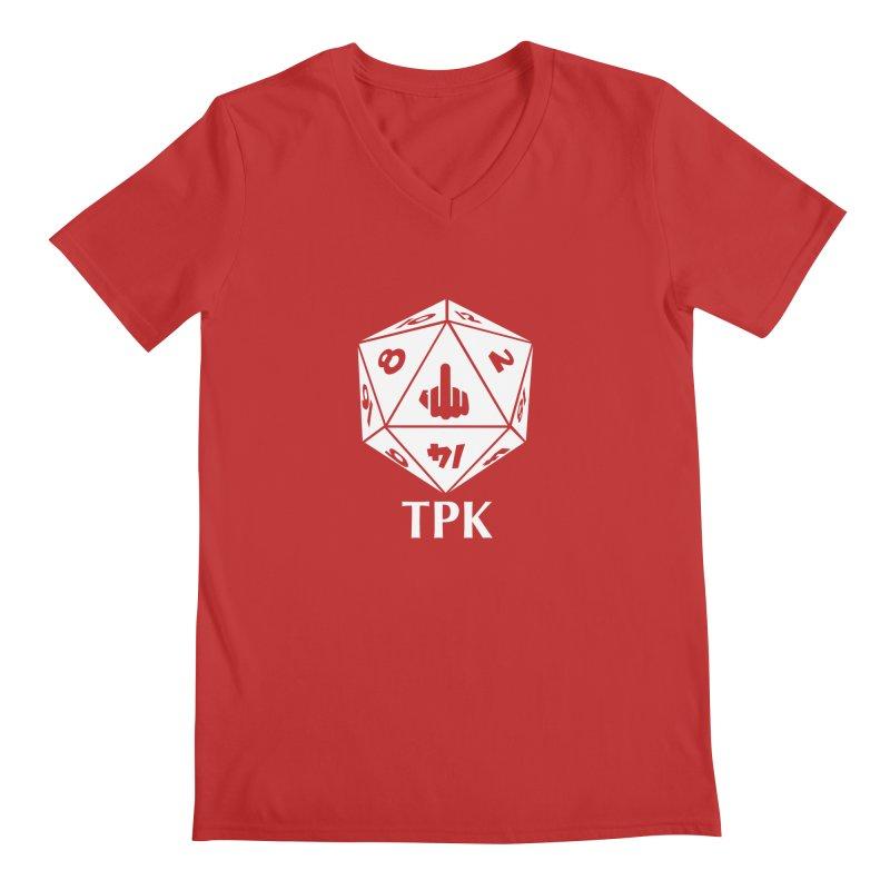 TPK (white) Men's V-Neck by aaronjriley's Artist Shop
