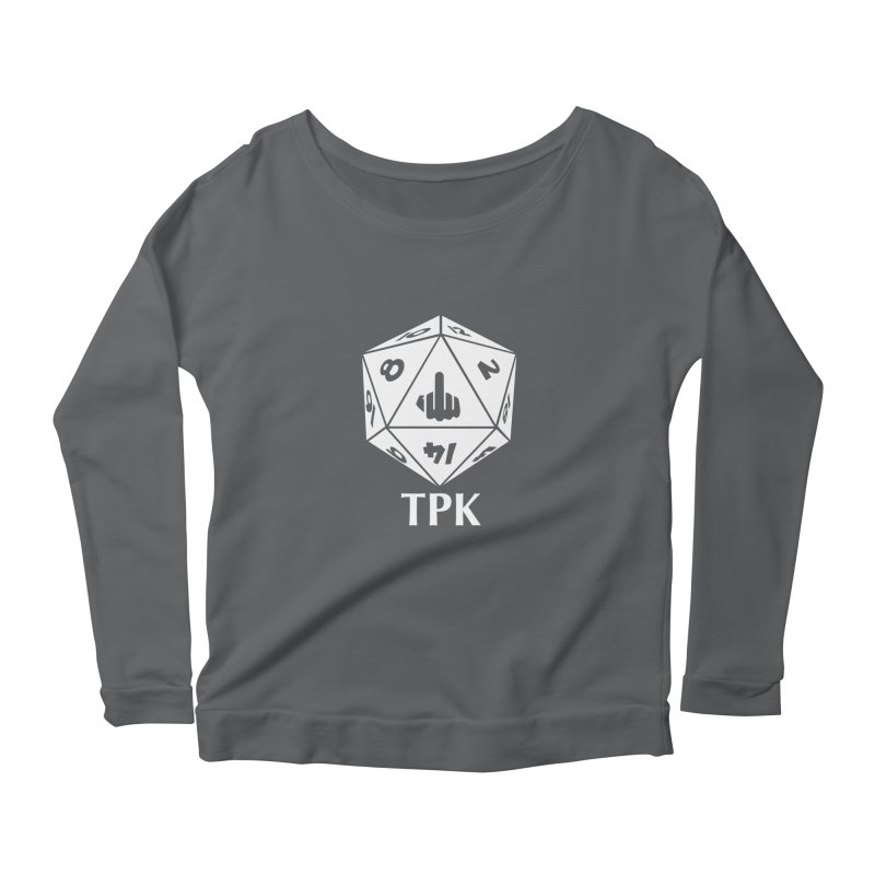 TPK (white) Women's Scoop Neck Longsleeve T-Shirt by aaronjriley's Artist Shop