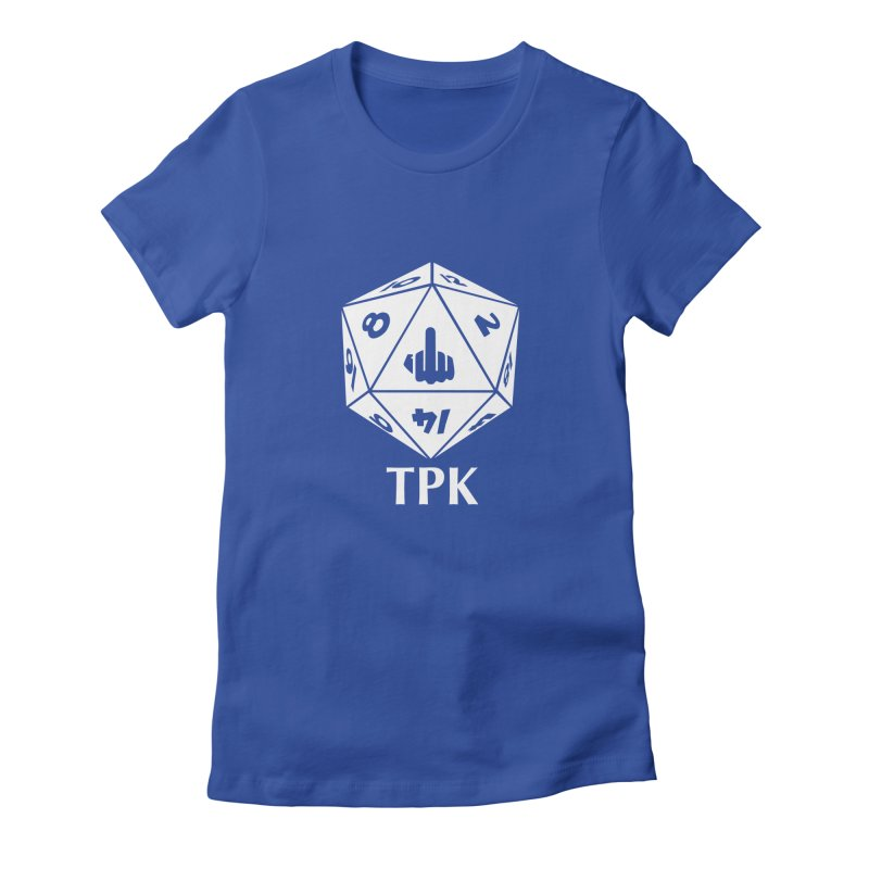 TPK (white) Women's Fitted T-Shirt by aaronjriley's Artist Shop