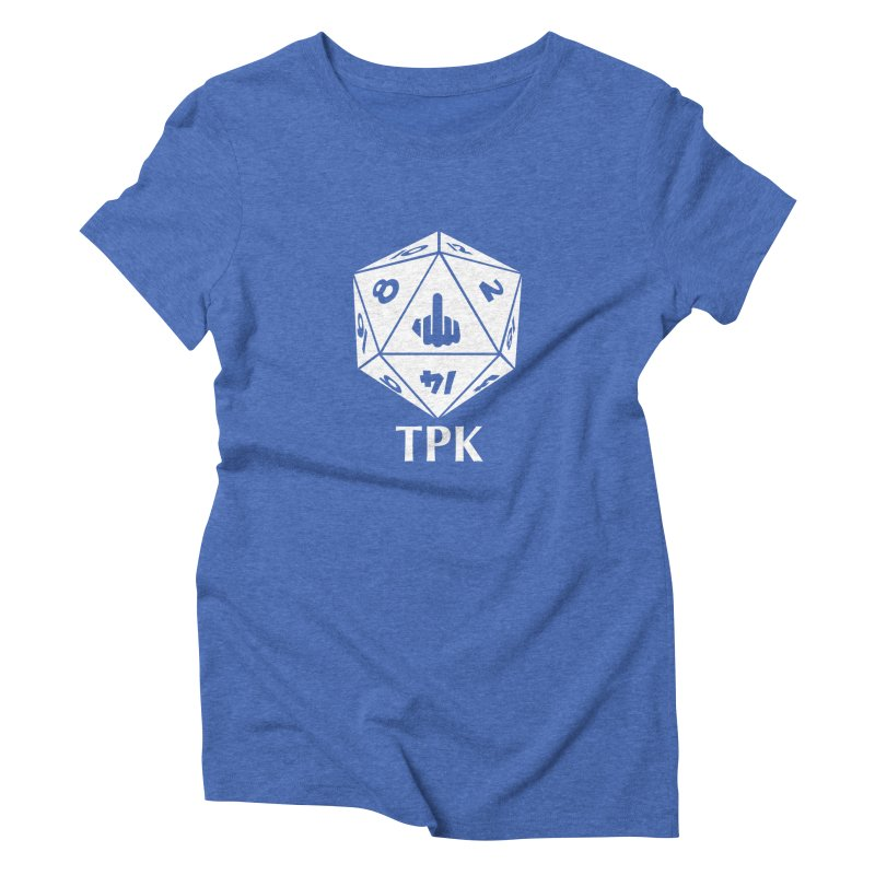 TPK (white) Women's Triblend T-Shirt by aaronjriley's Artist Shop