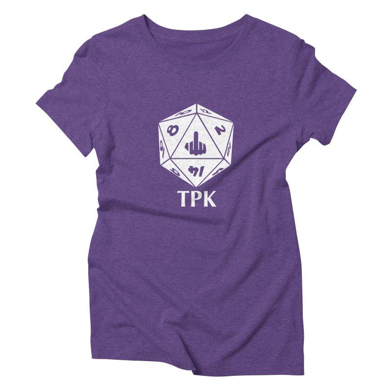 TPK (white) Women's Triblend T-Shirt by aaronjriley's Artist Shop
