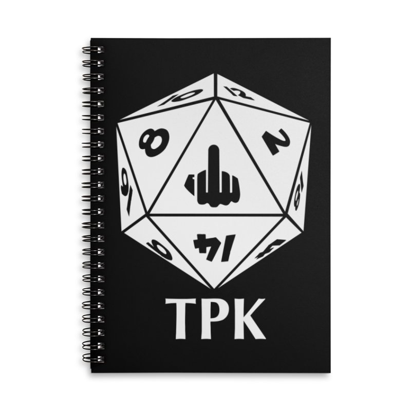 TPK (white) Accessories Lined Spiral Notebook by aaronjriley's Artist Shop