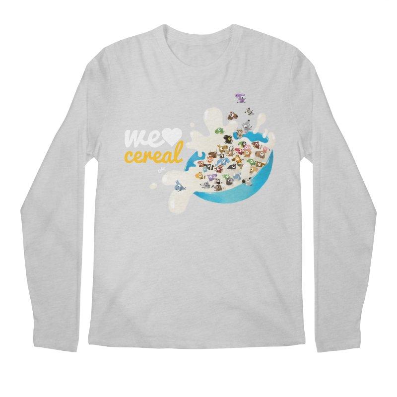 We/Me Love Cereal Men's Longsleeve T-Shirt by aaronrandy's Artist Shop