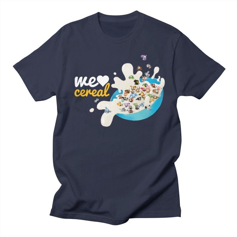 We/Me Love Cereal Men's T-shirt by aaronrandy's Artist Shop