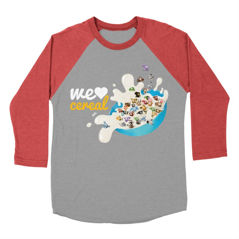 We/Me Love Cereal Men's Baseball Triblend T-Shirt by aaronrandy's Artist Shop