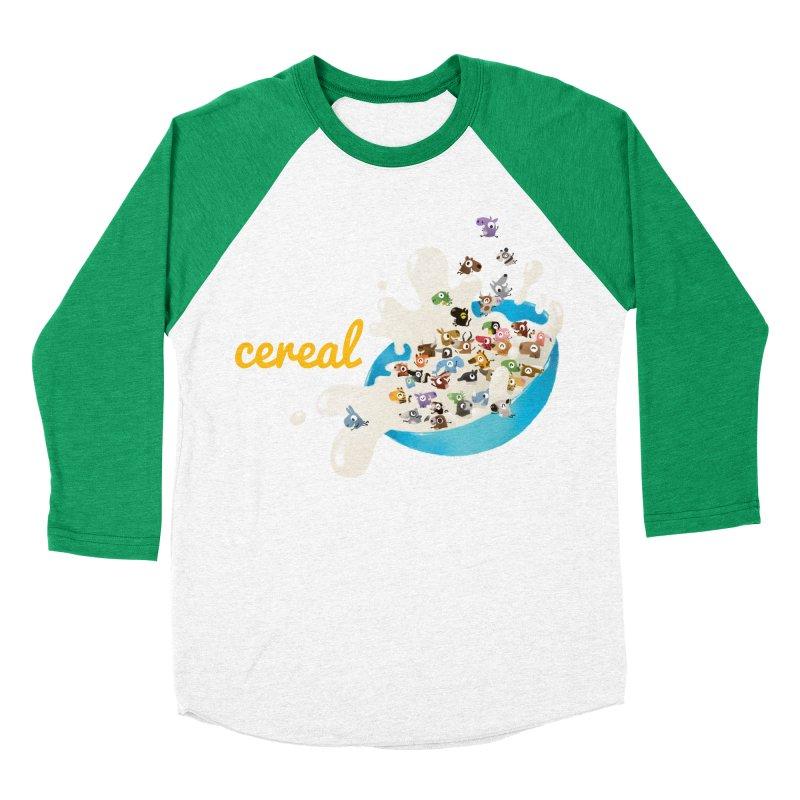 We/Me Love Cereal Men's Baseball Triblend T-Shirt by aaronrandy's Artist Shop