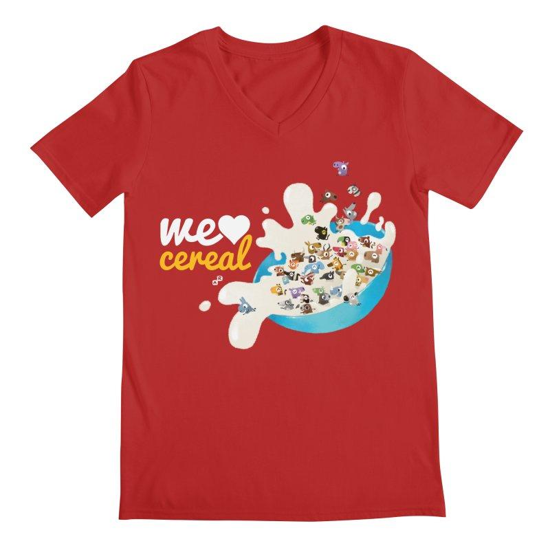 We/Me Love Cereal Men's V-Neck by aaronrandy's Artist Shop