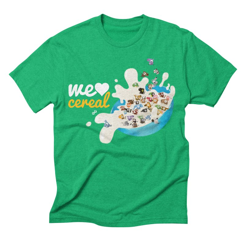 We/Me Love Cereal Men's Triblend T-shirt by aaronrandy's Artist Shop