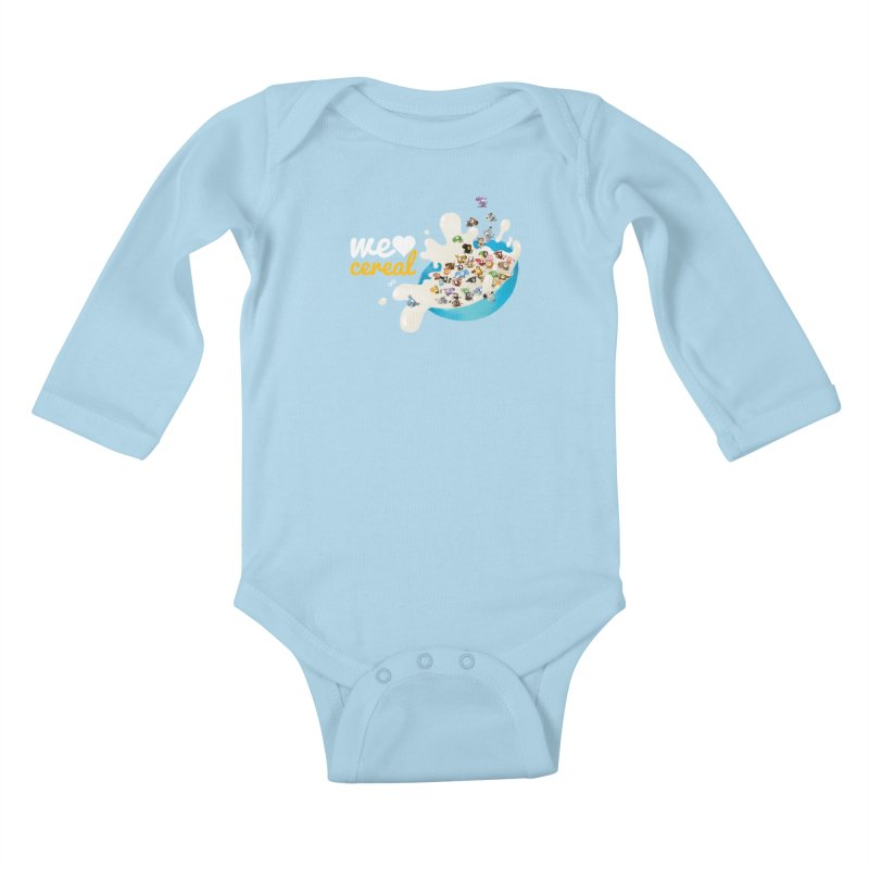 We/Me Love Cereal Kids Baby Longsleeve Bodysuit by aaronrandy's Artist Shop