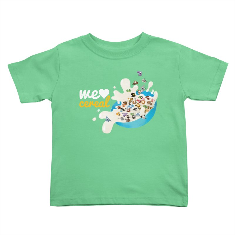 We/Me Love Cereal Kids Toddler T-Shirt by aaronrandy's Artist Shop