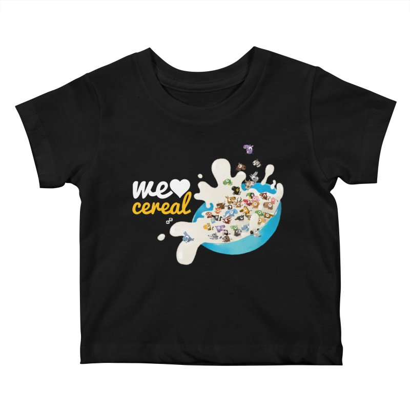 We/Me Love Cereal Kids Baby T-Shirt by aaronrandy's Artist Shop